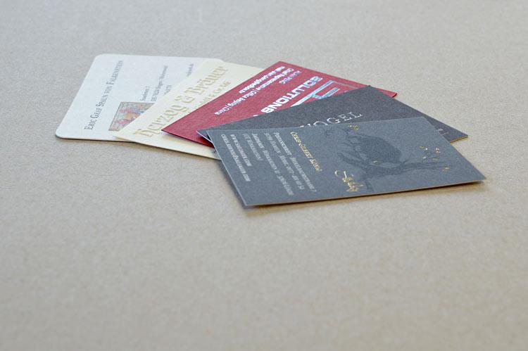 Prägedruck Auf Visitenkarten Und Papier